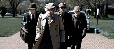 Jared Abrahamson, Evan Peters, Blake Jenner, and Barry Keoghan appear in American Animals, by Bart Layton, an official selection of the US Dramatic Competition at the 2018 Sundance Film Festival