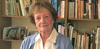 Dita Kraus, 88, in her book-lined home in Israel
