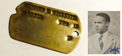 An image of the Tuskegee Airman dog tags from the military aviation museum that received it from Antonin DeHays