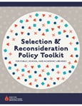 Cover of revised Selection and Reconsideration Policy Toolkit