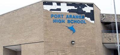 Port Aransas High School was struck by Hurricane Harvey, August 25, 2017