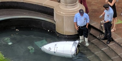 In July, a state-of-the-art security robot plunged wheel-over-nosecone into a shallow fountain near Washington, D.C.—and couldn't get back up