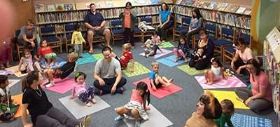 Yoga storytime at the Pleasant Hill branch of the Contra Cost County (Calif.) Library