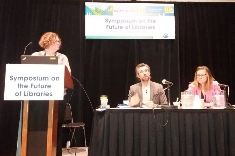 "Panelists at ""Libraries Transform: Education Innovation""."