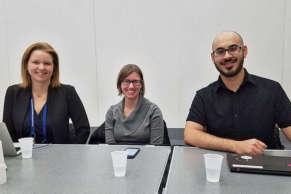 Left to right: Violaine Iglesias, Danielle Whren Johnson, and Stefan Elnabli were speakers at the ALCTS Forum