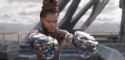 Letitia Wright stars as Shuri, T'Challa's technologically savvy sister, in Black Panther