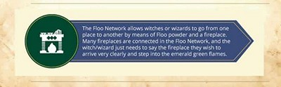 Use the Floo Network, with floo powder and a fireplace