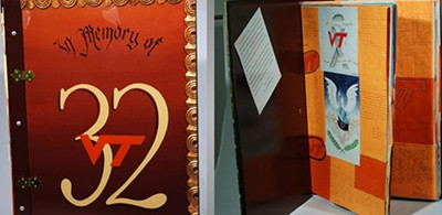 Condolence book, In Memory of 32, sent by students at Marjory Stoneman Douglas High School in Parkland, Florida, to Virginia Tech in 2007 after the shootings there
