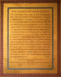 Mission of a University by N. B. Zane, text by Frederick G. Young