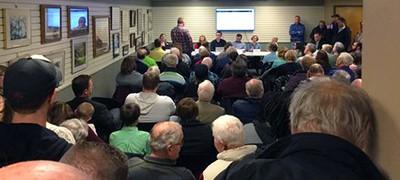 Orange City (Iowa) Public Library trustees meeting. Photo by Ian Richardson / Sioux City Journal