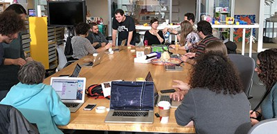 A playtest workshop, hosted by Jordan, Cecil, and Kreg, took place in the LLK lab space at the Media Lab with local educators and other Media Lab researchers