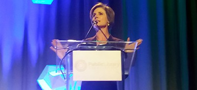 Opening Session speaker Sally Yates addresses attendees at the PLA Conference in Philadelphia on March 21