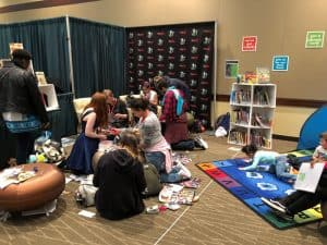 The pop-up library at Emerald City Comic Con. Photo: Amie Wright