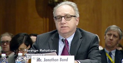 Jonathan Band testifies at the Senate Foreign Relations Committee hearing on the Marrakesh Treayt