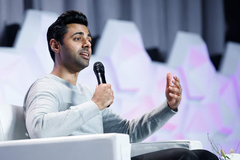 Hasan Minhaj at the Public Library Association Conference in Philadelphia on March 24. Photo: Laura Kinser