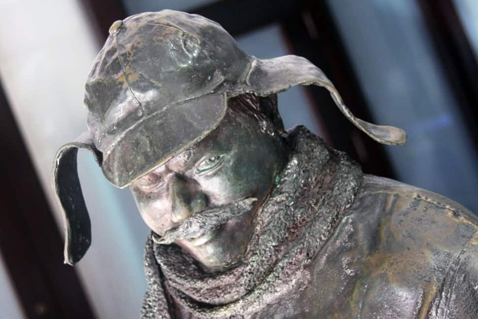 Bronze statue of Ignatius J. Reilly, protagonist of A Confederacy of Dunces, that stands on Canal Street in New Orleans.Photo: Todd Murray
