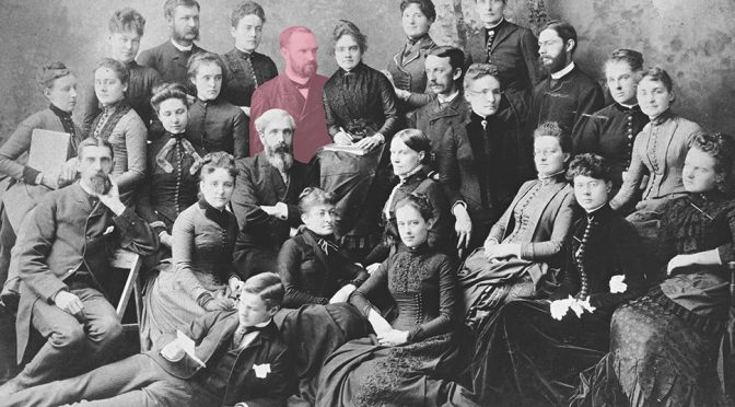 Melvil Dewey with the 1888 class of the School of Library Economy at Columbia College, New York City. Photo: ALA Archives