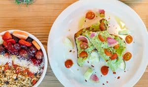 Açai bowl and avocado toast at Daily Beet