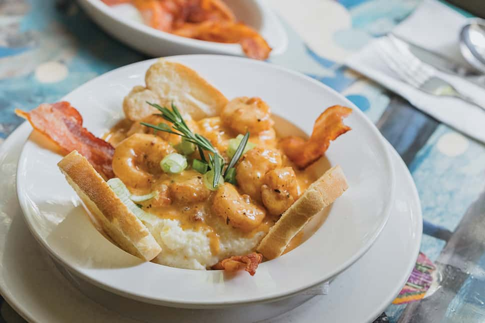 Shrimp and grits at Surrey's. Photo: Paul Broussard