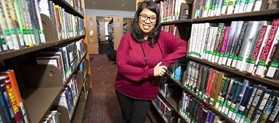 Joy Whatley, manager of the Otay Ranch Branch Library, says public-private partnerships are one way the city of Chula Vista funds its library services. Photo by Chadd Cady / San Diego Union-Tribune