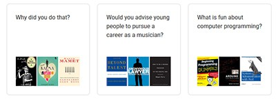 Talk to Books app sample questions