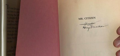 Signed copy of Mr. Citizen found in Waco (Tex.) High School library