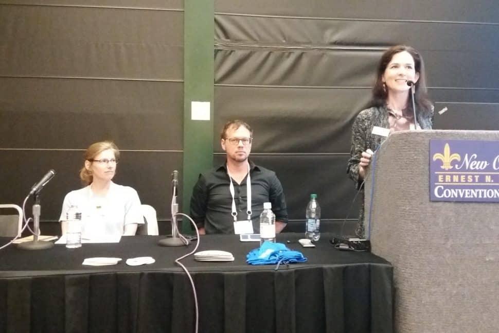 Beth Crist, Dustin Landrum, and Wendy Cornelisen