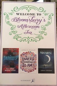 Promo poster at entrance of Bloomsbury's Afternoon Tea