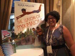 Author Kekla Magoon at Random House Children's Books dinner