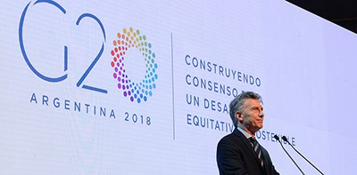 Mauricio Macri at the official launch of the Argentine G20
