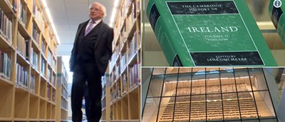 Irish President Higgins in the National Library of Latvia