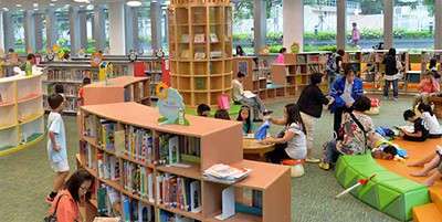 Children's section of the Tiu Keng Leng Public Library in Hong Kong
