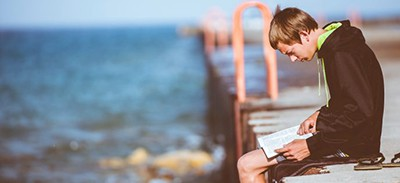 Summer reading on the dock