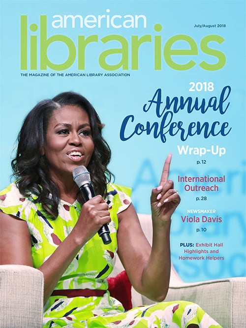 American Libraries July/August 2018 cover