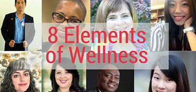 8 Elements of Wellness, from the ALA-APA workplace wellness website
