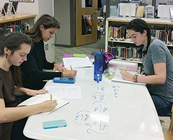 Francis W. Parker School in Chicago created whiteboards on tabletops