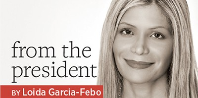 From the President, by Loida Garcia-Febo