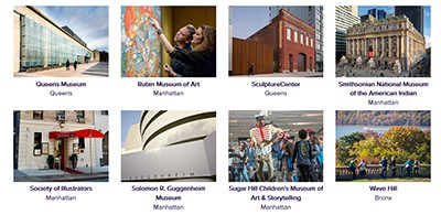Eight of the 33 NYC museums participating in Culture Pass