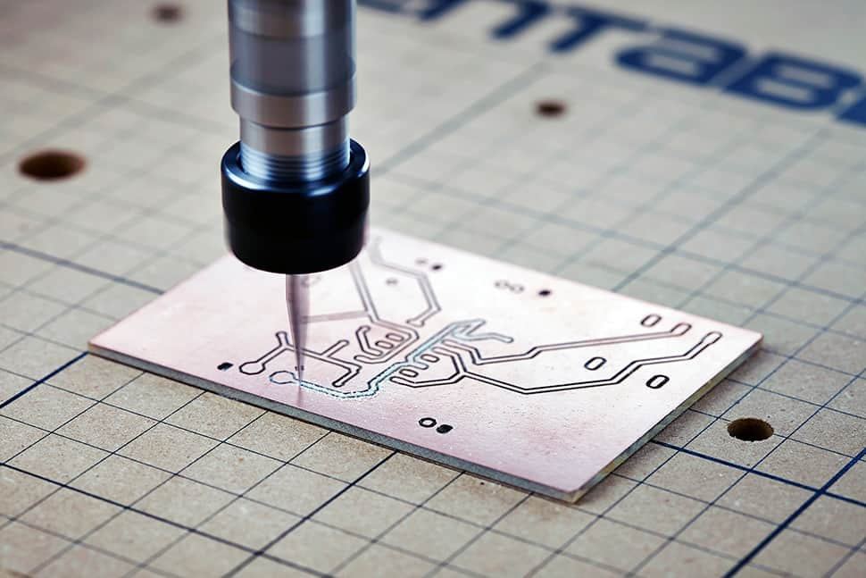 Carvey uses CNC technology to mill wood, plastic, circuit boards, and other materials.