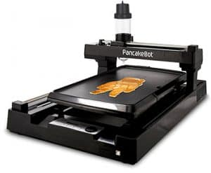 PancakeBot prints pancakes by dispensing batter onto a heated griddle.