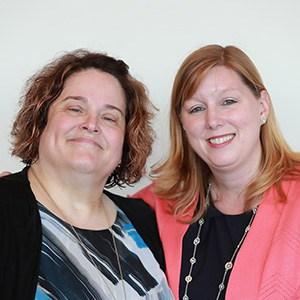Denise Zielinski (left), community engagement office, and Megan Millen, executive director, of Joliet Public Library