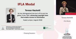 IFLA Medal winner Teresa Hackett