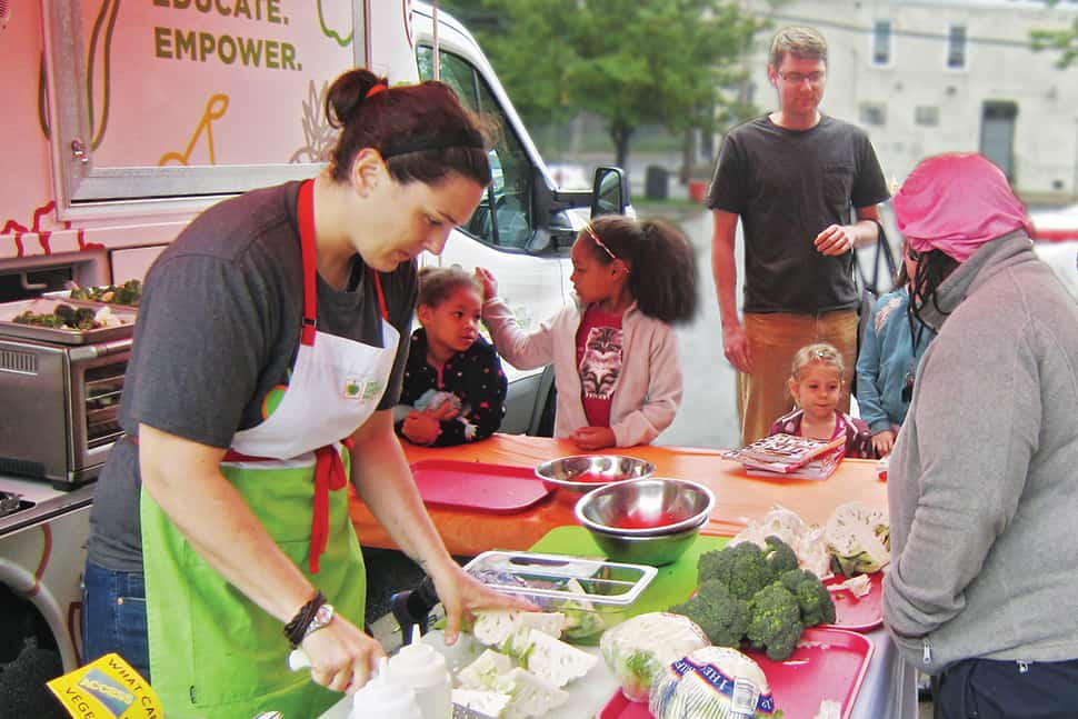 Mobile food programs, like this one at Camden County (N.J.) Library System, are teaching food literacy and delivering nutritious meals in food deserts. Photo: Camden County (N.J.) Library System