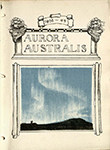 The cover page of Aurora Australis, featuring an illustration by George Marston. Photo by the Houghton Library