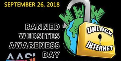 Banned Websites Awareness Day, Sept. 26