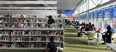 Benning Neighborhood Library in Washington, D.C., in 2011. Photo by Astrid Riecken / The Washington Post