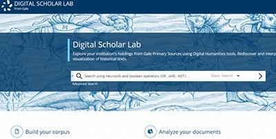 Gale's Digital Scholar Lab