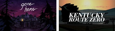 Video games Gone Home and Kentucky Route Zero