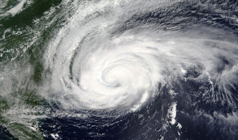 Hurricane Florence, photographed September 13, 2018, by NASA