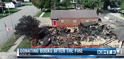 Joice (Iowa) Public Library fire